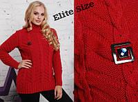 Зимний свитер с брошкой, с 50-56 размер , фото 1
