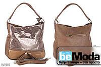 Очень стильная и изысканная женская сумка Kiss me G2042 с декоративными кисточками цвета хаки