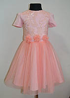 Прадничное детское платье для девочек с пышной юбкой, фото 1