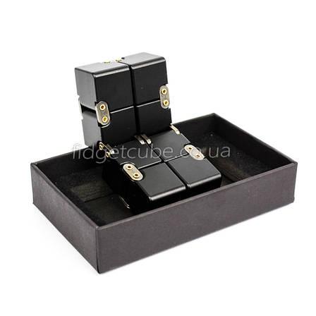 Infinity cube - инфинити куб - Fidget toy черный цвет 9801-2, фото 2