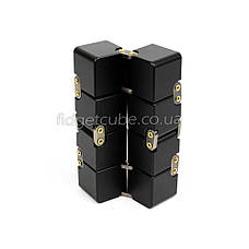 Infinity cube - инфинити куб - Fidget toy черный цвет 9801-2, фото 3