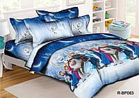 """Детский полуторный комплект постельного белья 150*220 из ранфорса """"Холодное сердце NEW"""""""