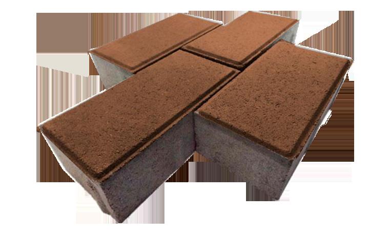 """Тротуарная плитка """"Кирпичик"""" коричневая"""