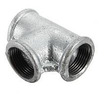 3/4 дюйма Внутренний диаметр Черные железные трубы Резьбовое соединение тройников