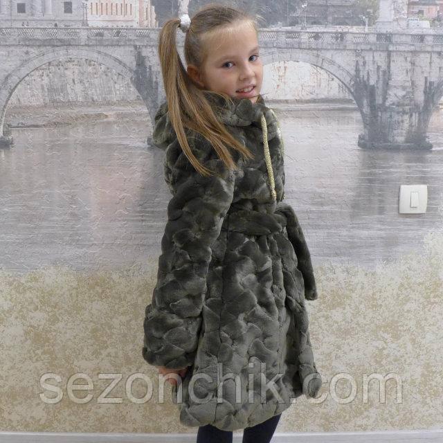 Зимняя шубка для девочки модная