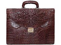 Мужской портфель из кожи крокодила (DCM 48 Brown), фото 1