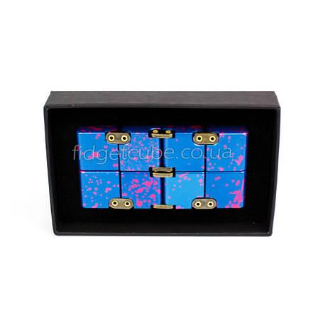 Infinity cube - инфинити куб - Fidget toy синий с розовым 9801-5, фото 2