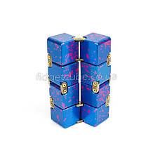 Infinity cube - инфинити куб - Fidget toy синий с розовым 9801-5, фото 3