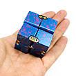 Infinity cube - инфинити куб - Fidget toy синий с розовым 9801-5, фото 4