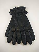 Перчатка мужская кожаная маленьких размеров на утеплителе из махры (разные варианты узора)