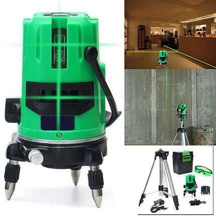 Зеленый 5 Линия 6 Очки Лазер Уровень 360 Вращающийся Лазер Линия самовыравнивания с Штатив, фото 2