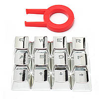 PET Transparen 12 Keys AWSD QERF Вперед Назад Влево Вправо Ключи для механической клавиатуры