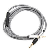 1.2M Запасной аудиокабель с пультом дистанционного управления и микрофоном для наушников Sennheiser HD595 HD598 HD558 HD518