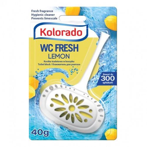Освіжувач (кісточка, внесок) для унітазу Kolorado лимон 40г