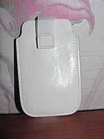 Белый кожаный чехол для телефона Dolce Vita