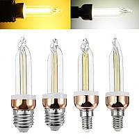 E27 E14 5W Урожай светодиодный COB льда накаливания Эдисон лампа лампа белого теплого белого AC220V