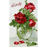 Картина по номерам Идейка КН2091 Чувственные розы 30 х 50 см