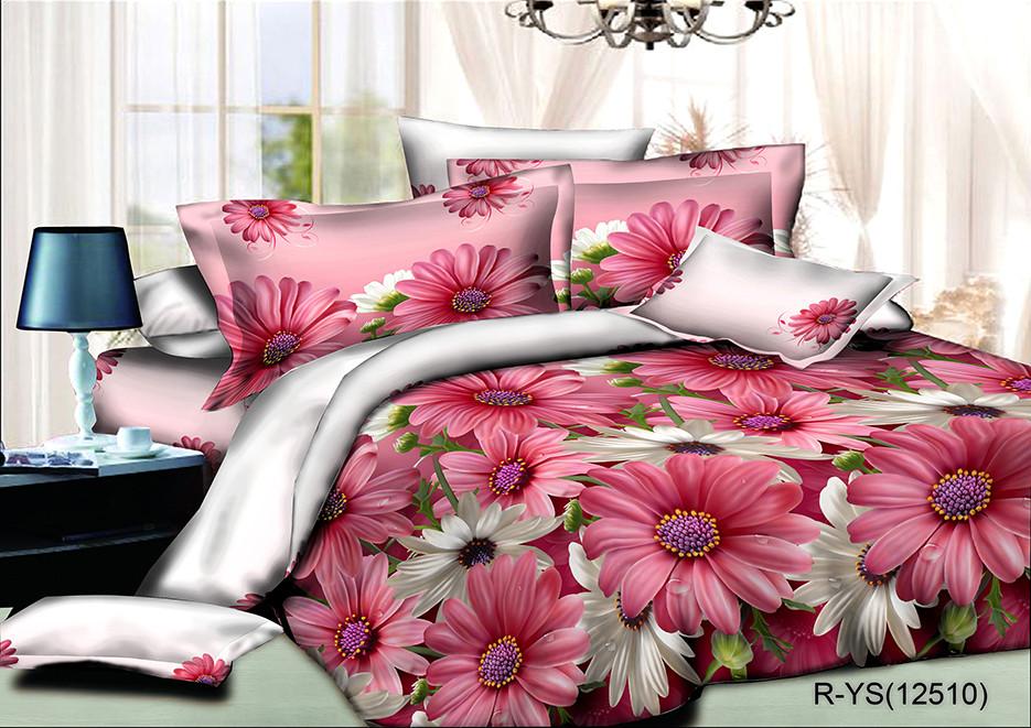 """Двуспальный комплект постельного белья 180*220 из ранфорса """"Океан цветов"""""""