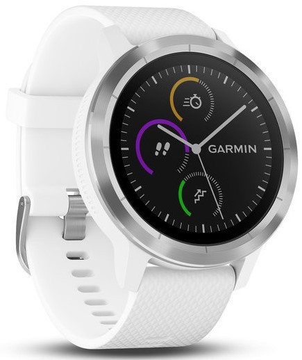 Смарт-годинник Garmin Vivoactive 3 white silicone, stainless steel