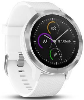 Смарт-годинник Garmin Vivoactive 3 white silicone, stainless steel, фото 2