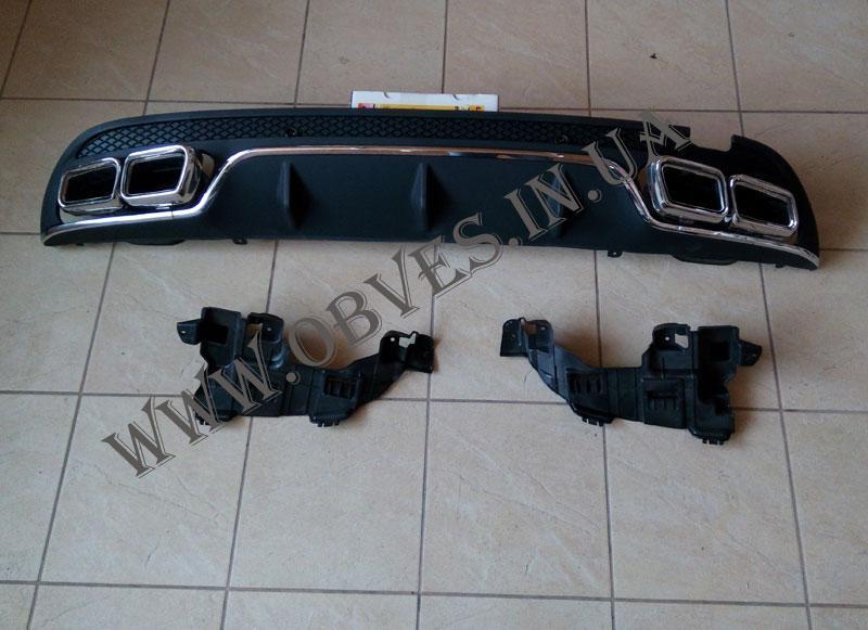 Диффузор заднего бампера Mercedes C-class W205 стиль AMG C63