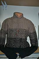 Мужской теплый свитер. Баталы. Теплая кофта под горло №086