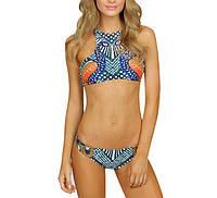 Женская бикини Купальники Пляжная одежда Печать Нейлон Цветочные Sexy Summmer Swimset