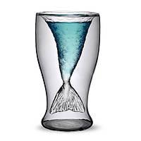 Уникальная двустворчатая кружка для пива для пива с прозрачной пивной кружкой Прозрачная чашка для вина Пивная кружка для кофе Пляжный Drink