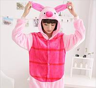 Пижама кигуруми свинка женская. Жіноча піжама