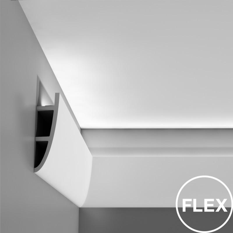 Плинтус, карниз для скрытого освещения, молдинг Orac Decor  C374, 200 x 18 x 5 cm