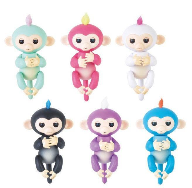 Интерактивная игрушка обезьянка  Fingerlings Baby Monkey OR - умеет общаться, двигаться и играть