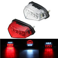 12V мотоцикл 11 LED Запуск лицензии Пластина Tail Indicator Brake Red Light