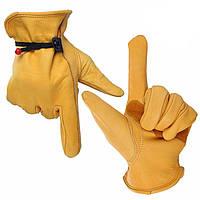 OZERO Водонепроницаемы Работа Перчатки Безопасность Сад Перчатки Кожаная сварка Защитная для обработки стекла L