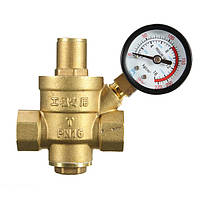DN32 1,2 дюйма Brass воды Регулятор давления клапан с уменьшением Манометр давления воды клапан