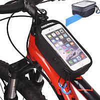 ROSWHEEL U Модель Touchscreen Сумка велосипедов 5,2 «» 5,7 «» велосипед Передняя рамка пробки вогнутая сумка