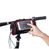ROEWHEEL Многофункциональный складной велосипед 6.0in сенсорный экран велосипедов телефон сумка большой емкости велосипедов Открытый Handlebar сум