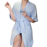 Honana BX-988 Полотенце Халат банный халат мужской Мужчины Женщины Твердо Хлопок Парой Вафельный Sleep Lounge