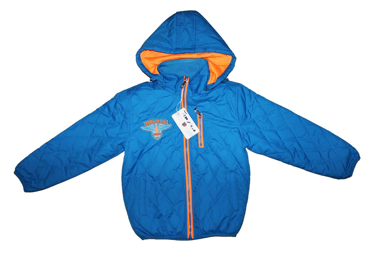 Курточка детская из плащевки на подкладке для мальчика на осень - весну Da132-134