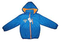 Курточка детская из плащевки на подкладке для мальчика на осень - весну Da132-134, фото 1