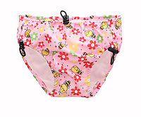 Детские непромокаемые плавки для бассейна Цветы Розовый (11268)