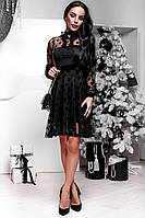 Коктейльное черное платье Глория