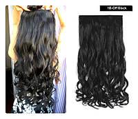 Волосы на заколках затылочная прядь волна №1в  52см