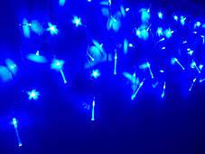 Гирлянда светодиодная Бахрома LED синий 108 л. 2.2x0.5 м (8 режимов), фото 2