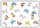 Коврик под миски зонтики Croci 43x32 см для собак и кошек, фото 6