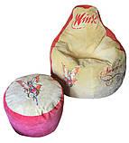 Детское Кресло бескаркасное мешок-пуф груша, фото 5