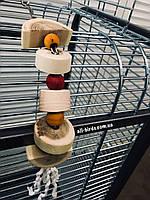 Игрушка для попугая из натурального дерева, фото 1