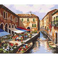Картина по номерам Цветочный рынок 40 х 50 см Идейка КН2191