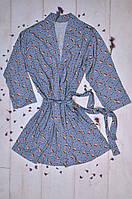 Женский халат с рисунком