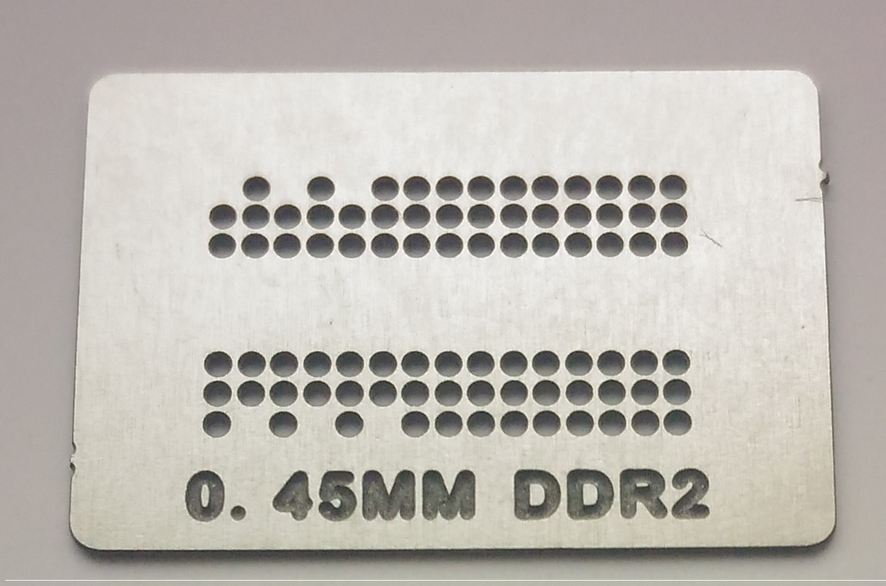 Трафарет BGA DDR2, шар 0,45 мм
