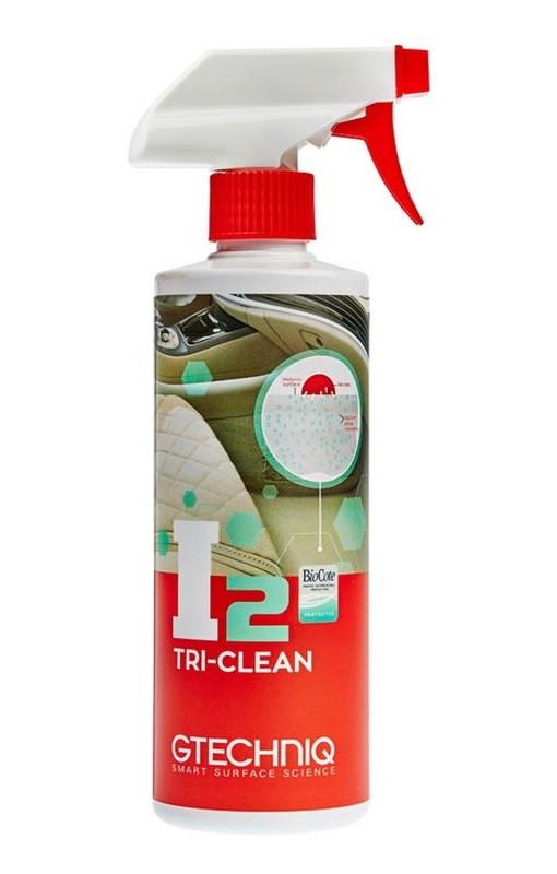 Gtechniq I2 Tri-Clean универсальный очиститель салона, очищает, убивает 99,9% бактерий и поглощает запахи